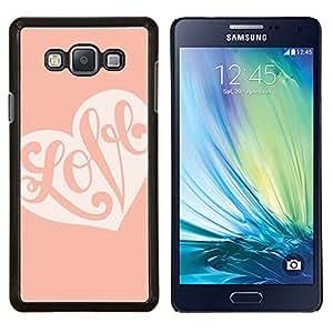 LECELL--Funda protectora / Cubierta / Piel For Samsung Galaxy A7 A7000 -- Caligrafía de San Valentín del corazón rosado del melocotón --