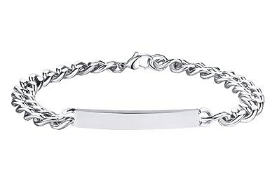 site réputé d5d5a c9d79 Bracelet Personnalisé avec Prénom Bijoux en Argent Cadeau Noël pour Saint  Valentin Bracelet Collier Gravure Prénom/Date de Naissance Bracelet ...