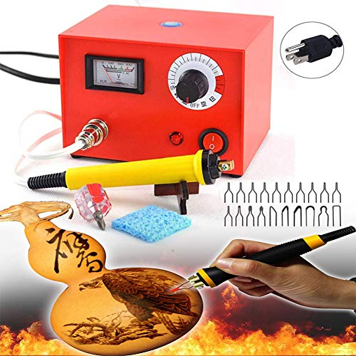 TOPCHANCES 110V Professional Woodburning Detailer 50W Laser Pyrography Machine Wood Burning Kit for Wood Leather,Christmas Nice Present (50W Pyrography Machine)