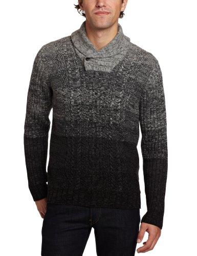 Calvin Klein Jeans Men's Shawl Collar Marl Sweater