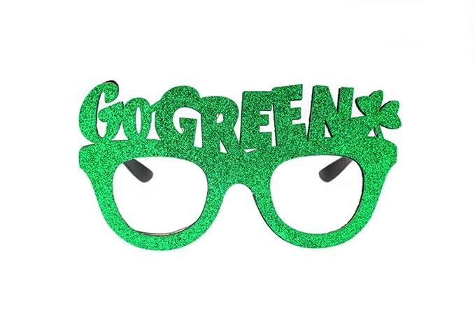 P-WEIAN Gafas de sol Espejo decorativo Gafas festivas Letras ...