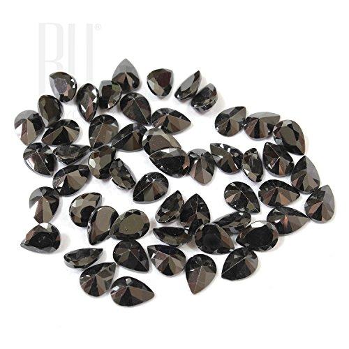 Be You Noir Couleur Zircone Cubique AAA Qualité 2.5x3 mm Diamant Coupe Poire Forme 500 pcs gemme