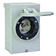 Reliance Controls Corporation PB50 50-Amp NEMA 3R Power Inlet Box, 50-Amp for Generators Up to 12,500 Running Watts