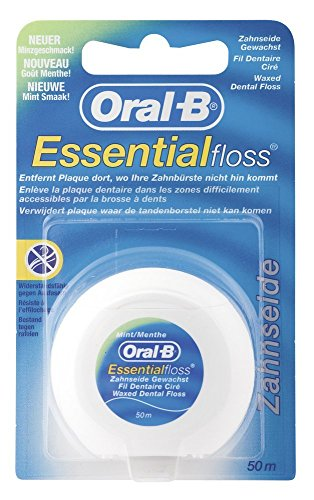 Oral B Essential Waxed Mint Floss, 50 M Pack Of 3