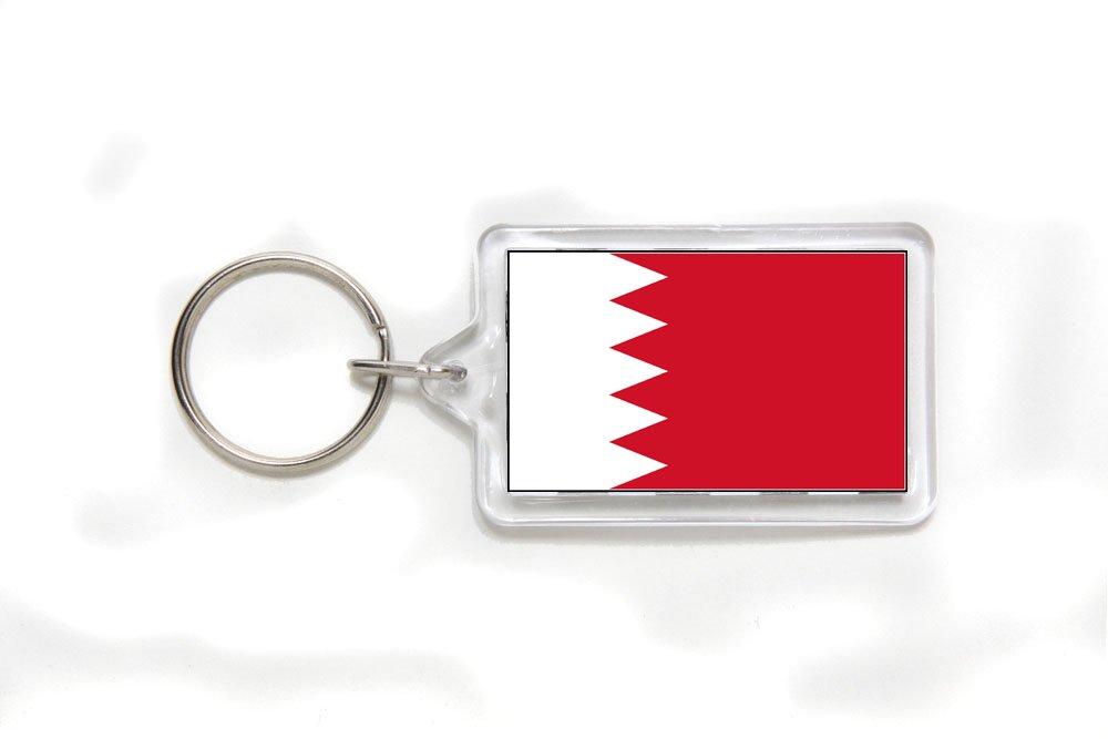 Bahrain Bahraini Flag Double Sided Acrylic Key Ring Small