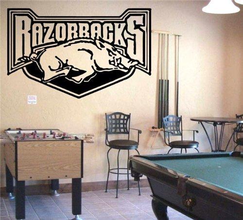 acks Logo Wall Art Decal Sticker (S059) (Arkansas Razorbacks Logo Wall)