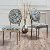 Christopher Knight Home 300257 Phinnaeus Fabric Dining Chair (Set of 2), Black/White Review