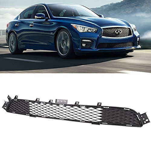 For 2014-2017 Infiniti Q50 Front Bumper Lower Mesh Sport Grille OE Style Chrome