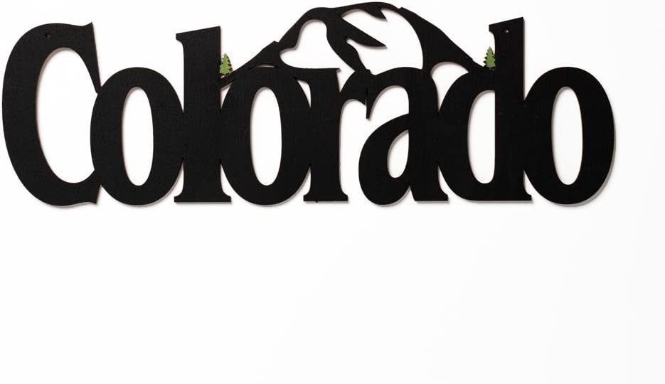 MEMORY MATS & WORD ART US States Decorative Wall Signs, Vacation & Destination Geographic Graphic Plaque, 17 x 6 inches (Colorado)