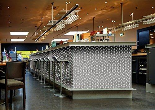 Revestimiento mural adhesivo WallFace 18607 TL LINEA diseño mosaico de rombos color platino junturas translúcidas 2,60 m2: Amazon.es: Bricolaje y ...