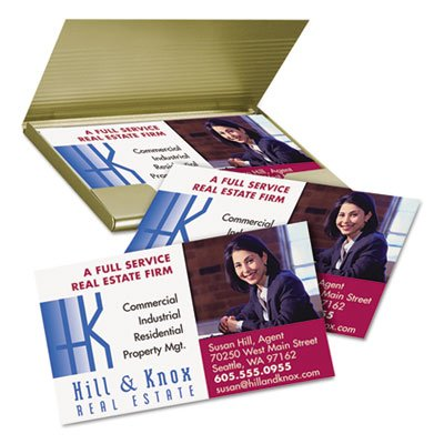 Printable Microperf Business Cards, Inkjet, 2 x 3 1/2, White, Matte, 1000/Box, Sold as 1000 Each