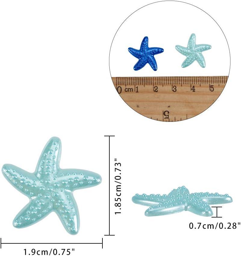 NBEADS 200 Pieza//Caja de Resina Estrella de Mar Perlas de Imitaci/ón Perlas de Limo de Resina Botones de Espalda Plana para Accesorios de Artesan/ía Scrapbooking Phone Case Decor