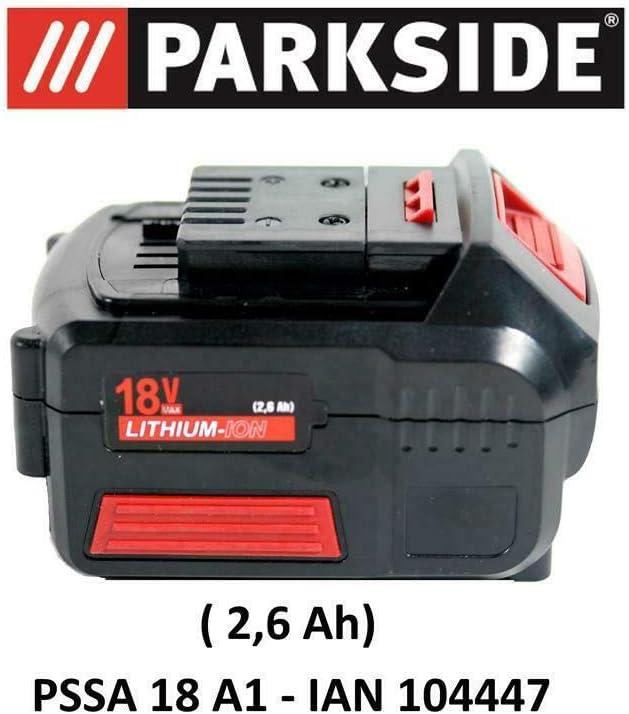 Parkside batería 18V 2,6Ah Pap 18–2.6A1para pssa 18A1–Ian 104447batería Sierra de sable