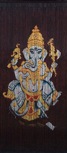 Hand Painted Bamboo Curtains (Bamboo Beaded Curtain Hand Painted-Ganesha (B))