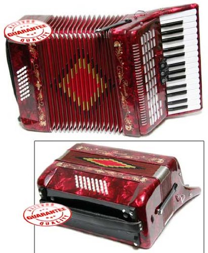 Rossetti Piano Accordion 32 Bass 30 Piano Keys 3 Switches Blue by Rossetti (Image #3)