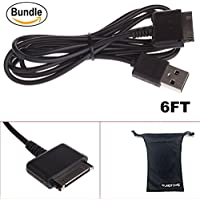 6FT Extra Long Nook Hd & HD+ 9 7 Barnes & Noble Compatible USB Charger Sync Cable Bundle with Bonus Travel Pouch