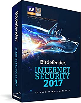 Bitdefender Internet Security 2017 1 PCs/1 Yr + Anti-Malware