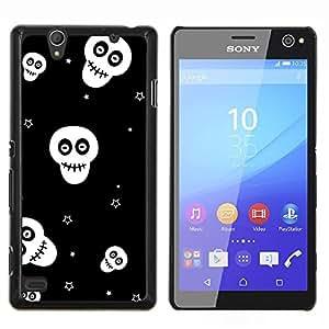 """Be-Star Único Patrón Plástico Duro Fundas Cover Cubre Hard Case Cover Para Sony Xperia C4 E5303 E5306 E5353 ( Calaveras Estrellas Negro Blanco Wallpaper Smiley"""" )"""