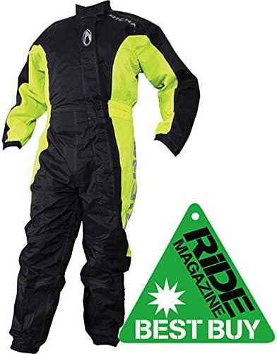 4XL Richa Typhoon Rain Waterproof Motorcycle One Piece Suit Overall Black//Yellow