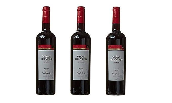 Viñas Del Vero Merlot Colección - Vino D.O. Somontano - 3 Botellas de 750 ml -