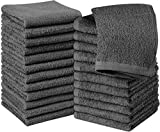 Utopia Towels Cotton Gray Washcloths Set - Pack of