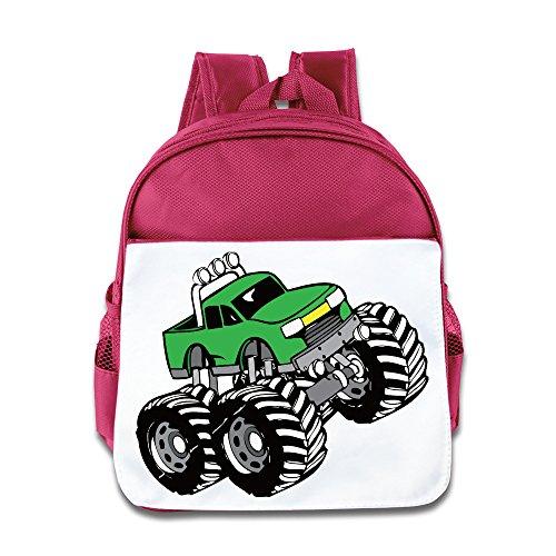 Truck Kids Backpack Boys Girls School Bag(two Colors:pink Blue) Pink (Girls Backpack Fox Racing)