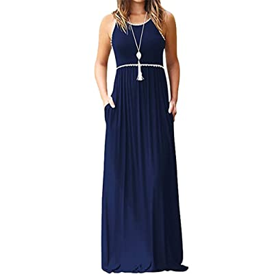 Gibobby_Dress Gibobby Womens Contrast Maxi Dress Tank Top Print Maxi Dress: Clothing