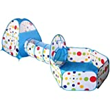RFVTGB Tienda De Juegos para Niños con Túnel, Tienda De Juegos Pop-up 3 En 1 con Túnel Bola Ball con Aro De Baloncesto…