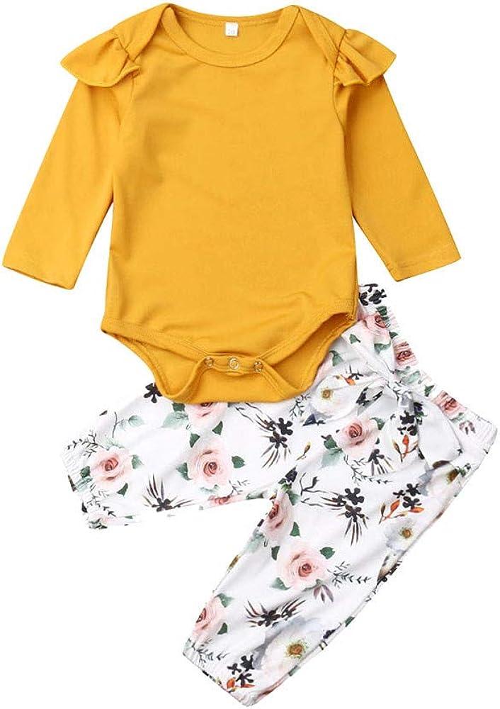 MAYOGO Conjunto Ropa Bebe Niña Otoño Manga Larga + Pantalones ...