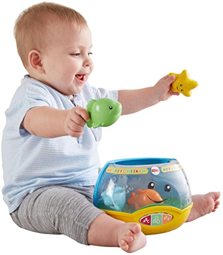 519LqZCNSgL - Fisher-Price Laugh & Learn Magical Lights Fishbowl