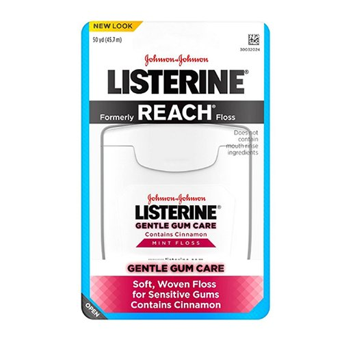 (Listerine Gentle Gum Care Woven Floss With Cinnamon 50 Yards (Pack of 2))