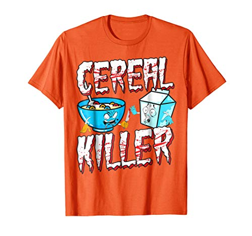 Funny Halloween Costume T-Shirt Cereal Killer ()