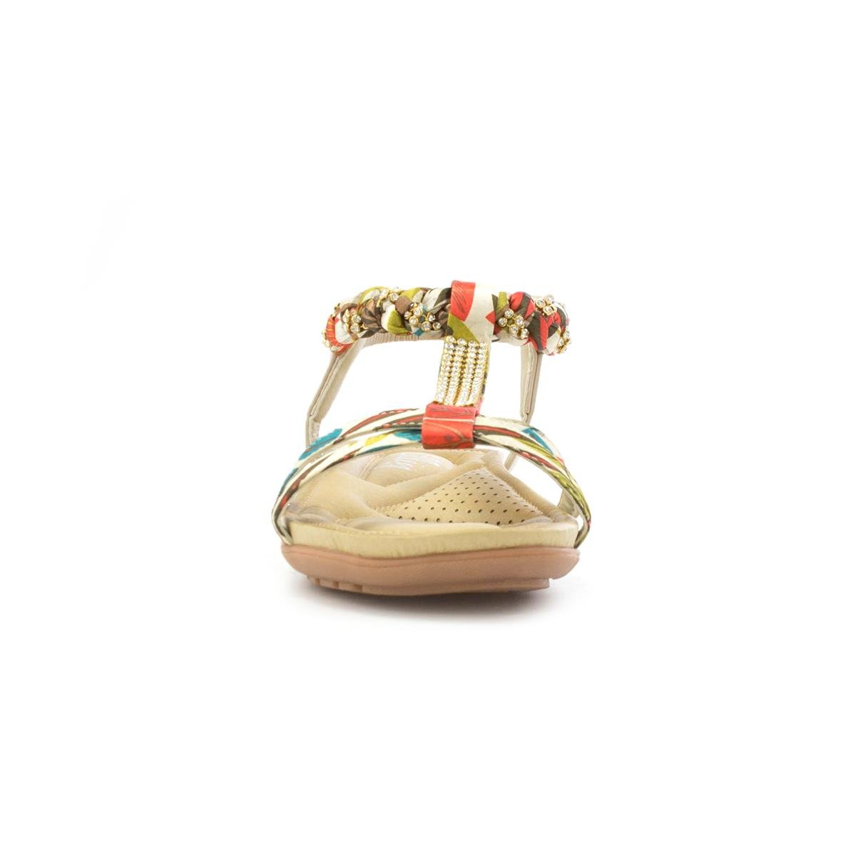 1c0ee913fc34 Lilley Womens Multi Coloured T-Bar Flat Sandal: Amazon.co.uk: Shoes & Bags