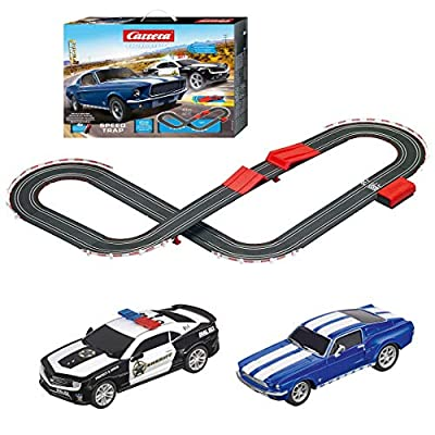 Carrera 63504 Speed Trap Battery Operated 1:43 Scale Slot Car Racing Track Set with Jump Ramp: Toys & Games