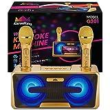 KaraoKing Wireless Portable Karaoke Microphone with Bluetooth for Kids (Karaoke Machine Gold)