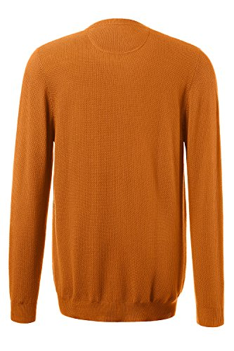 JP 1880 Herren große Größen Pullover aus Strukturstrick | Rundhalsausschnitt | Rippbündchen | bis Größe 7XL gelb-gold 4XL 705704 60-4XL