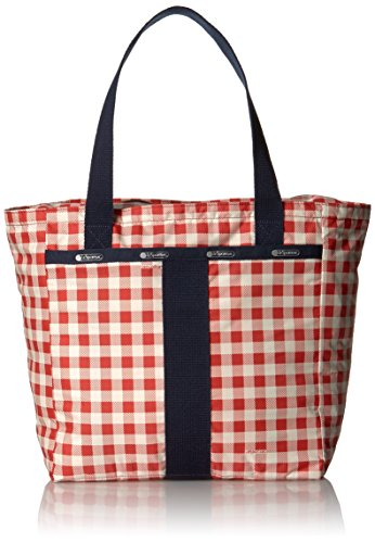 LeSportsac Small Everyday Tote, Gingham Classic Red