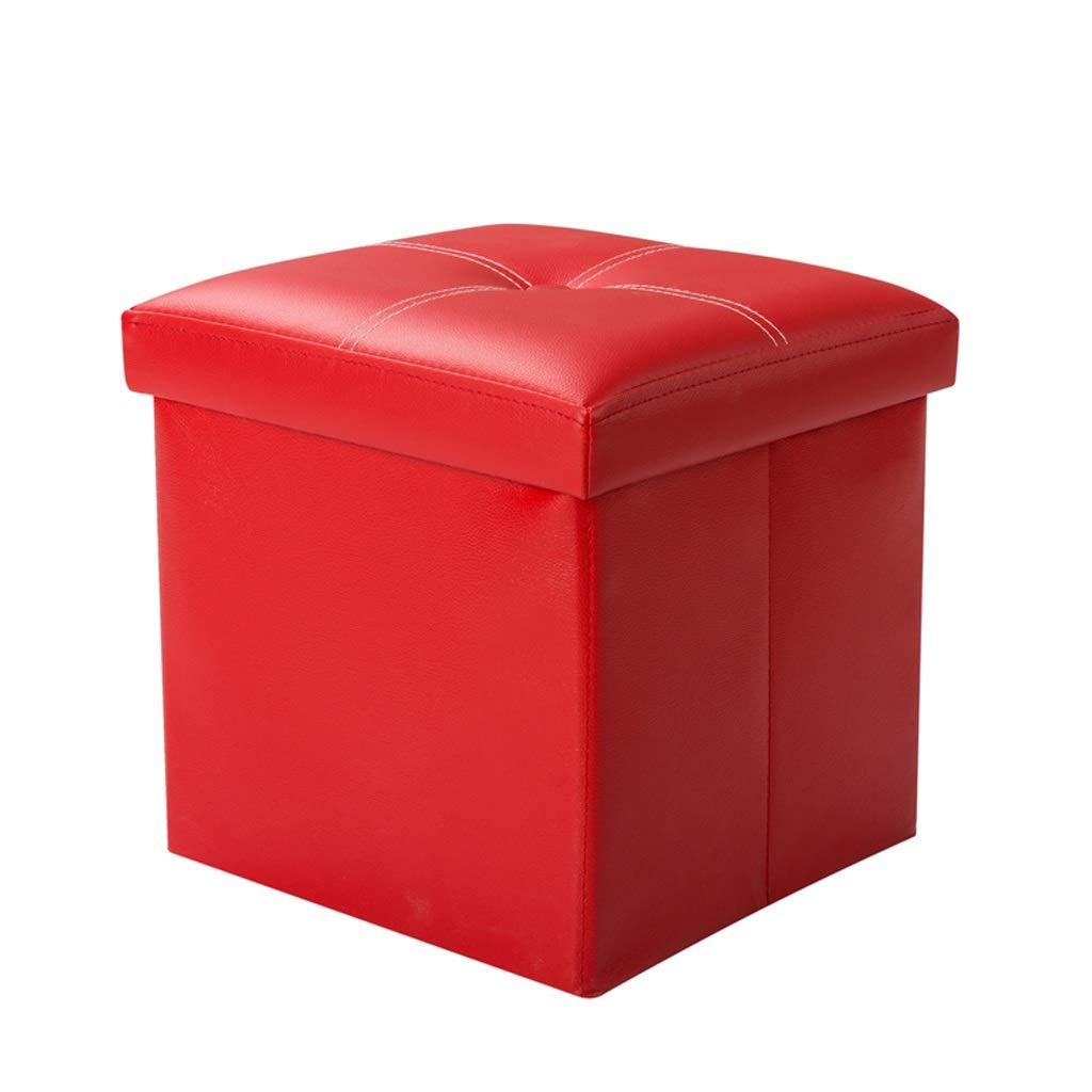 GY Taburete de de Taburete almacenamiento Plegable multifuncional Puede sentarse Color del caramelo Taburete de almacenamiento de cuero Juguete para niños Caja de almacenamiento Sofá de la sala Banco de cambio Ba 8aad45