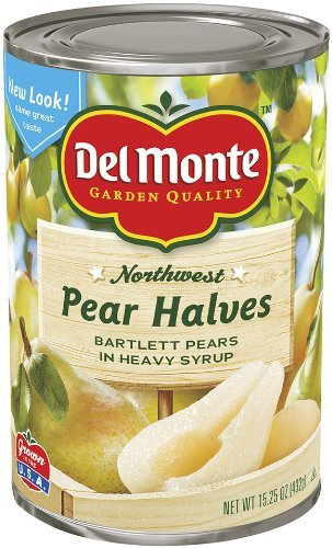 Del Monte, Pear Halves, Bartlett Pears in Heavy Syrup, 15.25oz (Pack of 6) by Del Monte