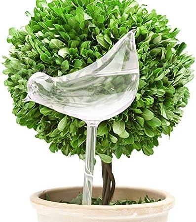 Debuy Self Watering Globe Plant Flower Water Bulbs Bird Shape Glass Home Decor