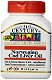 21st Century Norwegian Cod Liver Oil Softgels, 110 Count (Pack of 2)
