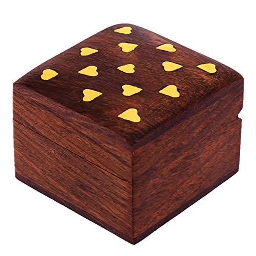 2004 Pendant Jewelry - Hashcart Indian Artisan, Handmade Wooden Jewelry Box/Jewelry Storage Organizer/Trinket Jewelry Box with Traditional Design