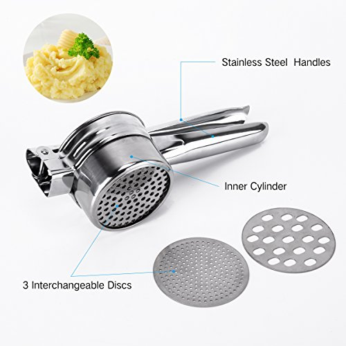 BeautyKitchen Stainless Steel Potato Ricer with 3 Interchangeable Disks by BeautyKitchen (Image #2)'