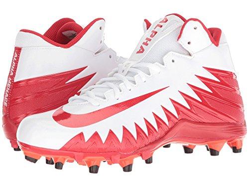 ジョージバーナード南アメリカ運動(ナイキ) NIKE メンズフットボール?アメフトシューズ?靴 Alpha Menace Varsity Mid White/University Red/Total Crimson 11.5 (29.5cm) D - Medium