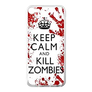 Keep Calm Kill Zombies Cool Design Case for iPod Touch 5th 100% TPU (Laser Technology)