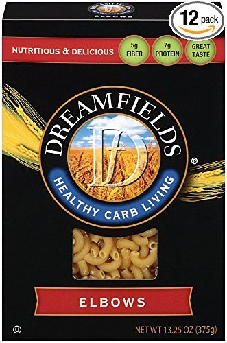 Dreamfields Pasta Healthy Carb Living, Elbow Macaroni, 13.25-Ounce Boxes (Pack of 12) Tuna Noodle Casserole
