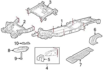 Genuine Ford 9L3Z-17B985-A Bumper Mounting Plate