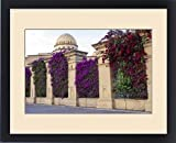 Framed Print of North Africa, Morocco, Marrakech, Royal Opera House. Bougainvillea glabra in