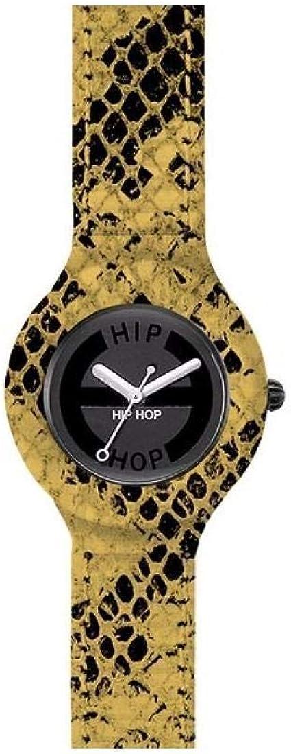 TALLA talla única. Reloj HIP HOP por Mujer Leather con Correa de silicio, Cuero, Movimiento Time Just - 3H Cuarzo