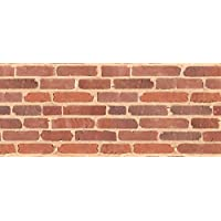Faux Flooring Another Brick in The Wall Runner, 25 by 60-Inch, Multicolor